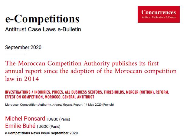 Rapport du Conseil de la concurrence du Maroc