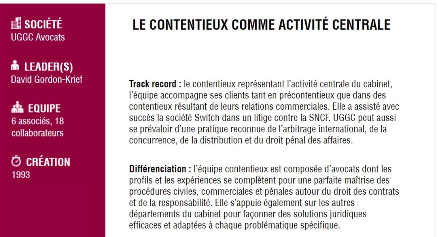 UGGC - Contentieux