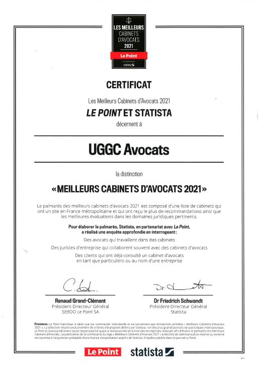 UGGC - Certificat uggc avocats